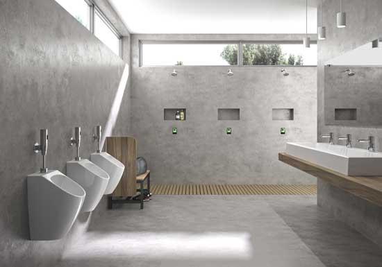 Profesionalhoreca, baño colectivo con equipamento de Genwec