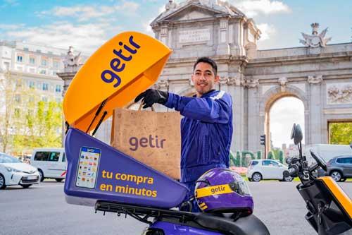 Profesionalhoreca, repartidor de la empresa turca de delivery Getir