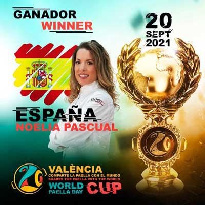 Profesionalhoreca, Noelia Pascual, ganadora de la World Paella Day Cup 2021