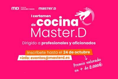 Profesionalhoreca, cartel del I Certamen de Cocina y Pastelería MasterD