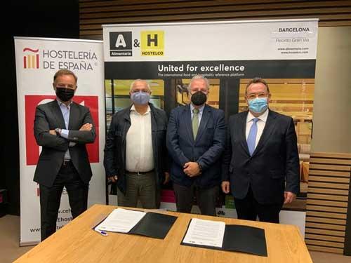 Profesionalhoreca, firma de la alianza entre Alimentaria & Hostelco y Hostelería de España para reactivar el sector hostelero