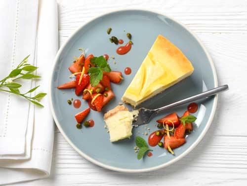 Profesionalhoreca, postre con la Tarta de queso con limón de Erlenbacher