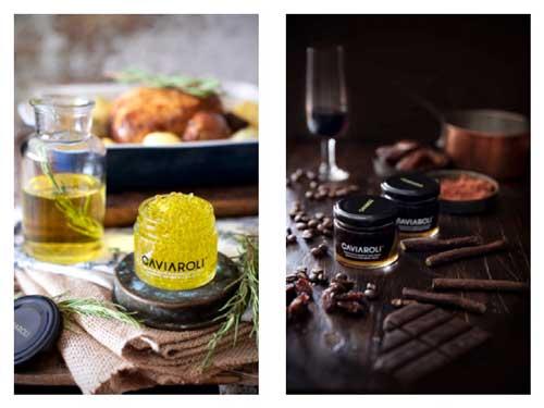 Profesionalhoreca, Dos variedades de perlas Caviaroli: de aceite de romero, y de vinagre de Pedro Ximénez